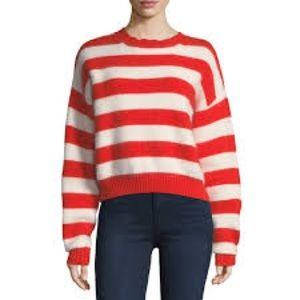 Orange & cream Diane von Furstenberg sweater